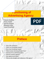 Functioning of Advertising Agency