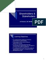 Shareholders & Stakehoders