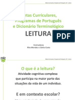 As Metas Curriculares, o Programa e o DT - Leitura