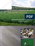 Analiza Pesticidelor Organoclorurate Utilizand Ecd-gc