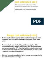 Rough Cost Estimate