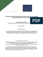 Devine-Wright 2007 Reconsidering Public Attitudes and Public Acceptance