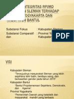 Analisis Integritas RPJMD Kabupaten Sleman Terhadap Provinsi Yogyakarta