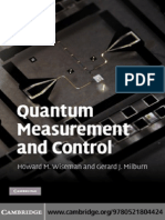 Quantum Measurement and Control - Wiseman & Milburn