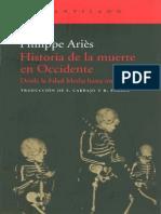 Aries, Philippe - Historia de La Muerte en Occidente