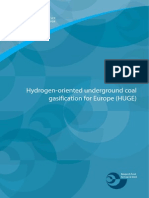 Hydrogen-Oriented Underground Coal Gasification for Europe (HUGE)