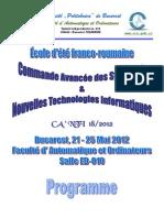 Programme CA'NTI-18 2012