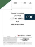 Mitsubishi Aa084vc03 Lcdpanel Datasheet