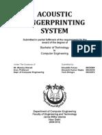 Acoustic Fingerprinting System