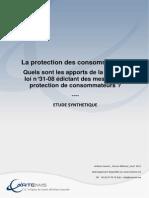 Etude Artemis Loi 31_08 Protection Des Consommateurs
