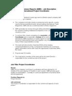 P Coordinator Job Description