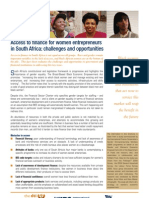 Access to Finance for Women Entrepreneurs in South Africa (November 2006)
