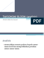 Taksonomi Bloom (Analisis)