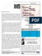St. Augustine Catholic Church Sunday Bulletin, January 12, 2014