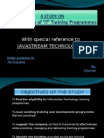 Effectiveness of 'IT' Training Programmes...
