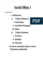 World War I Notes (1)