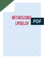 Metabolismul Lipidelor 8 Mai