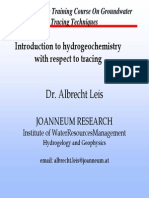 Introduction to Hydrogeochemistry