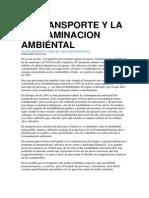 El Transporte y La Contaminacion Ambiental