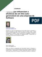 Fatores que influenciam a eficiência de um time auto-gerenciável em uma empresa de Software 2013 ES Magazine - Monteiro e Cardoso - Self-manager 2013-10-18
