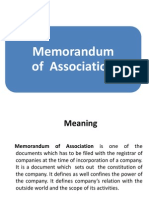 ppt on memorandum of association