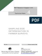 Sampling Size Determination in Farmer Surveys