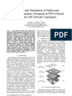 Modeling and Simulation of Embryonic Hardware Structures Designed on FPGA-based Artificial Cell Network Topologies