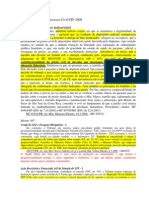 Civil e Processo Civil STF 2008