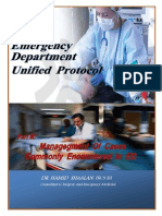 Unified Protocol for Management of Critical Cases Commonly Encountered in ED.  Dr. Hamid Shaalan. FRCS