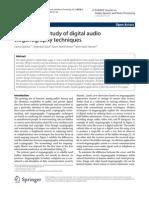 Audio Stenography Techniques