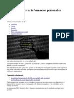 ¿Cómo proteger su información personal en internet