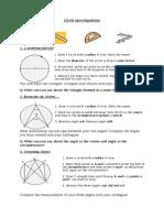 01 - Investigating Properties of Circles
