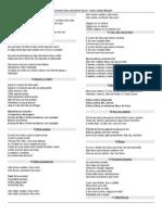 Folheto de Músicas - Sem. NOVEMBRO2013