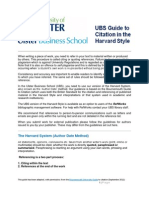 University of Ulster Business School Harvard Referencing Guide