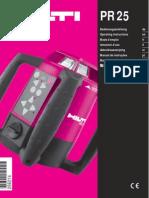 HILTI - PR 25 - Manuale d'Istruzioni