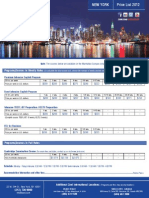 New York Pricelist and Accommodations 2012