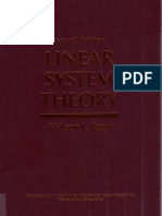 Linear System Theory 2E (Wilson J. Rugh)