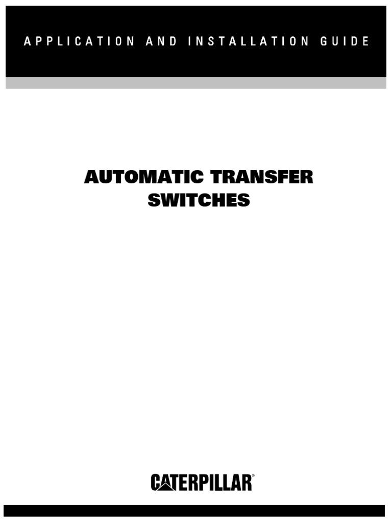Lebq8107 00 Automatic Transfer Switchpdf Switch Electric Arc Rxt Wiring Diagram