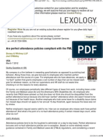 Are Perfect Attendance Policies Compliant With the FMLA and ADA_ - Lexology