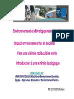 _chimie verte écologique 2012 M2_