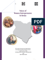 Voices of Women Entrepreneurs in Kenya (May 2006)