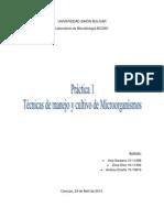 Técnicas de manejo y cultivo de microorganismos