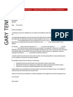 Civil Engineering Cover Letter 5
