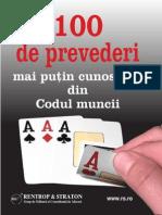 100 prevederi Codul muncii