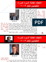 الأخطاء القاتلة لأسوء المدراء التنفيذيين للعام 2013