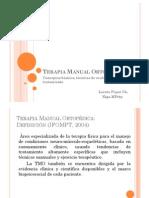 Resumen Terapia Manual Ortopédica