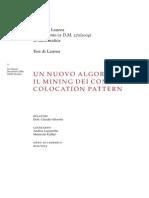 Un nuovo algoritmo per il mining dei condensed colocation pattern