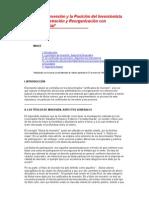 El Certificado De Inversión y la Posición del Inversionista