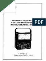 Simpson 270-5 User Manual-2007