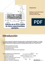 Cálculo de la RTD a partir de datos (2)